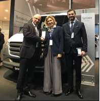 From left to right: Marcus Ernst – Ing. Domitilla Benigni (COO Elettronica) – Marcello Mariucci (Managing Director Elt GmbH)
